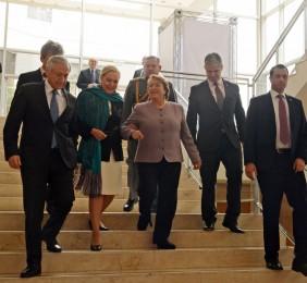 Michelle Bachelet junto a Benita Ferrero-Waldner