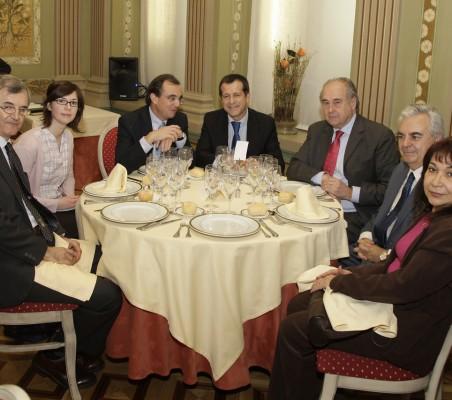 Roberto Cuñat, Charlotte Lajoux,  Joaquín de la Herrán, Eduardo G. Sáenz de Buruaga, Miguel Vergara José L. Ripoll y Gloria Mirt