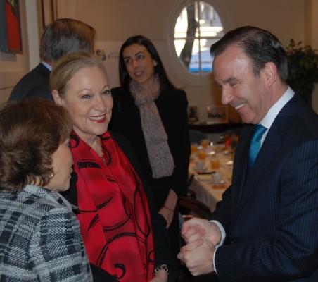 Benita Ferrero-Waldner,María Lahore, Rafael Falagán de la Fuente