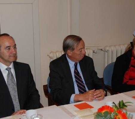 Jacinto López, Carsten Moser, Benita Ferrero Waldner