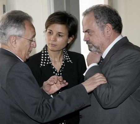 Ángel Durández, Olga Cuenca y Ignacio Polanco