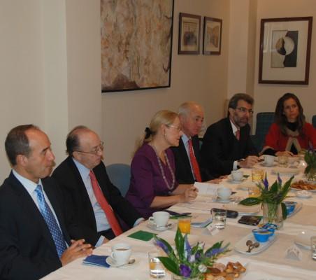 Jacinto López, Guillermo Fernández de Soto, Benita Ferrero- Waldner, Emilio Gilolmo; Francisco Rivarola, Patricia Alfayate