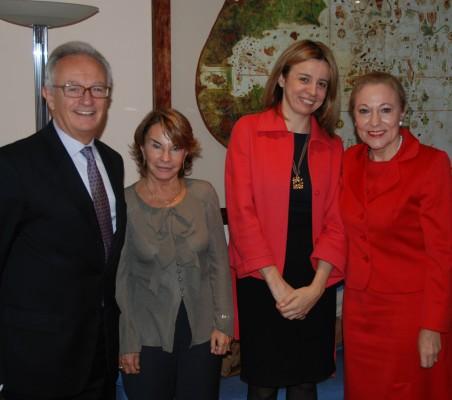 Ángel Durández, Luisa Peña, Mª Coriseo Gonzalez, Izquierdo, Benita Ferrero Waldner