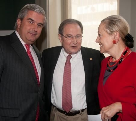 Gonzalo Babé, Juan Pérez Mercader, Benita Ferrero-Waldner