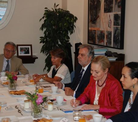 Ángel Durández, Luisa Peña, JulioSenador-Gómez,Benita Ferrero- Waldner, Francisca Méndez