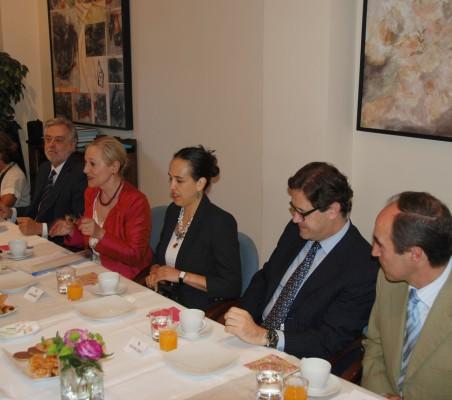 Luisa Peña, Julio Senador-Gómez, Benita Ferrero- Waldner, Francisca Méndez, Jacinto López