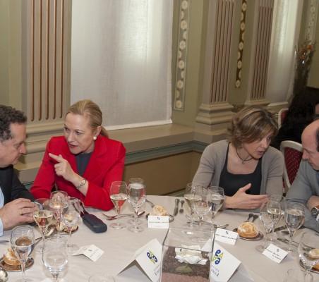 Almuerzo-coloquio con José Manuel Silva Rodríguez, Benita Ferrero- waldner, Isabel García Tejerina, Antonio Sanchez Bustamente