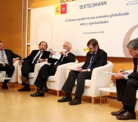 Anton Smith, Carlos López Blanco, Tristan Garel-Jones, Rafael Rodríguez-Ponga y José Luis García Delgado