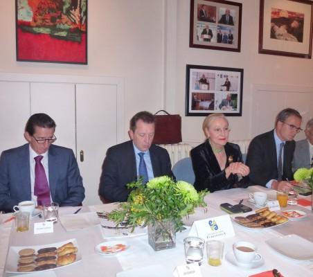 Eduardo Ortega; Javier Cremades; Benita Ferrero Waldner; Eduardo Arbizu; Ángel Durández