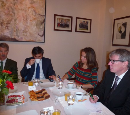 José Ignacio Salafranca, Sebastián Laino, Patricia Alfayate, Hervé Reverbori