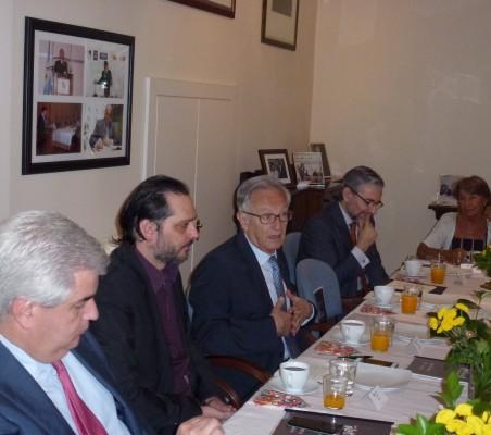 Gonzalo Babé, Pablo Bello, Ángel Durández, Rafael García del Poyo, y Luisa Peña