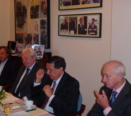 Adolfo Tamames, Francisco Marambio, José Aravena, y Emilio Gilolmo