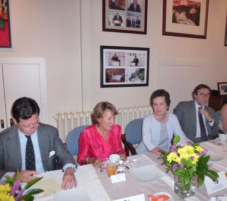 Íñigo de Palacio, Luisa Peña, María Ángeles Osorio,  Javier de Cos y Eva Piera