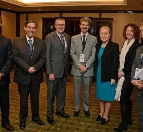 César Antón, Embajador Appelgen, Jorge Pizarro, José Ignacio Salafranca, Benita Ferrero-Waldner, Alicia Montalvo, y Ángel Durández