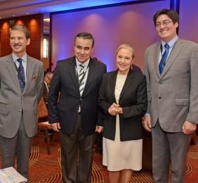 José Ignacio Salafranca, Claudio Muñoz, Benita Ferrero-Waldner,y Pedro Huichalaf
