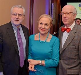 Ministro Máximo Pacheco, Benita Ferrero-Waldner, y el Embajador Robles Fraga