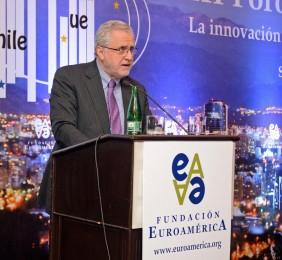 Ministro Pacheco durante  su intervención