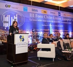 Paula Forttes durante su intervención
