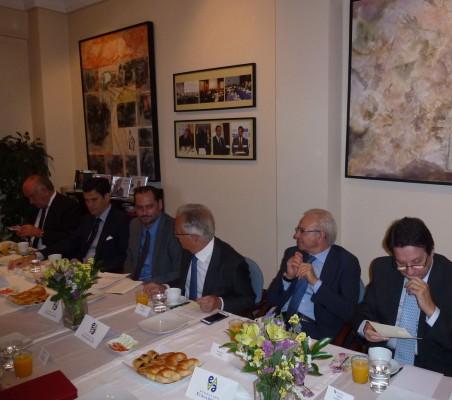 Miguel Vergara, José María Sanz-Magallón, Pablo Bello, Ángel Durández, Almerino Furlán, y Eladio Gutiérrez