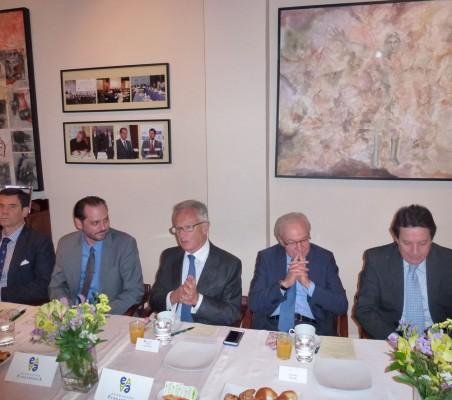 José María Sanz-Magallón, Pablo Bello, Ángel Durández, Almerino Furlán, y Eladio Gutiérrez