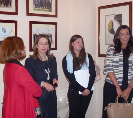 Carla María Rodríguez Mancia, Gina Magnolia Riaño, Catalina López, y María Lahore