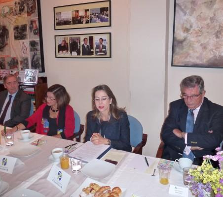 Fernando Mugarza, Carla María Rodríguez Mancia, Gina Magnolia Riaño y Juan Manuel Martínez