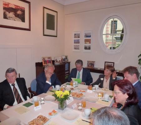 Rafael Roncaglilo, Ángel Durández,  José Gasset, Luisa Peña y Doris Osterlof