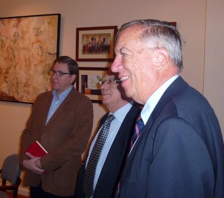 Francisco Ruiz, Ángel Bizcarrondo, y Carsten Moser
