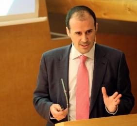 Carlos González-Sancho durante su intervención