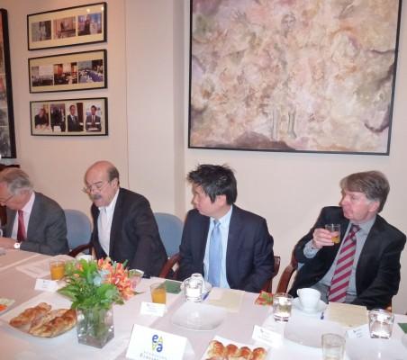 Ángel Durández, Antonio Resines,Marcelo Hasunuma y Porfirío Enríquez