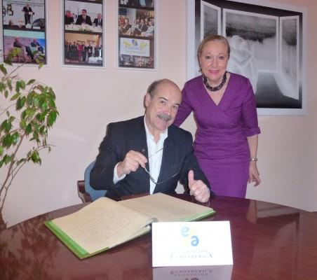 Antonio Resines, y Benita Ferrero-Waldner