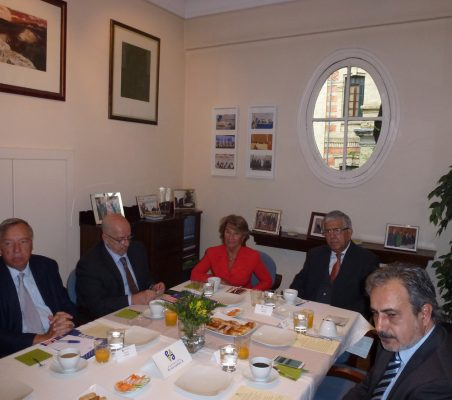 Carsten Moser, Francisco Galindo, Luisa Peña, Fernando Labrada y Luis Fernando Álvarez-Gascón