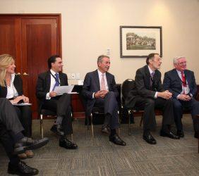 En sala Vip:Trinidad Jiménez, Alfonso Gómez Palacio, Sergio Aranda, Emilio Cassinello, Eamon Gilmore