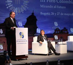 Ministro Aurelio Iragorri y Aldo Longo