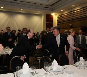 Presidente Juan Manuel Santos y  Guillermo Fernández de Soto