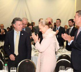 Llegada del Presidente Juan Manuel Santos, Benita Ferrero-Waldner y Sergio Aranda