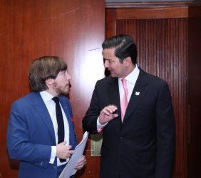 Carlos Loaiza y Ministro David Luna