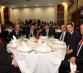 German Casal Arcau, Piero Venturi, Carlos Royo, en la comida de clausura