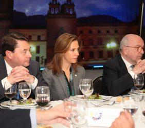 Carlos Vogeler, Ministra  María Claudia Locouture, Joaquín Almunia