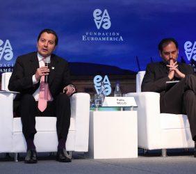 Ministro David Luna y  Pablo Bello,Secretario General de ASIET