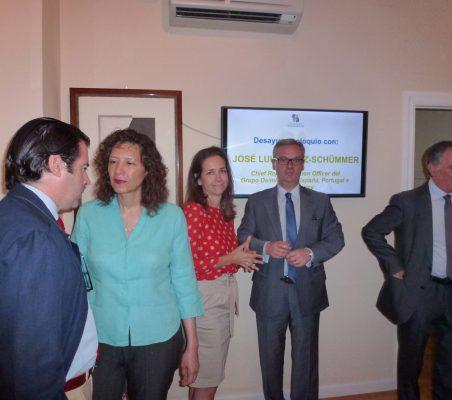 Rafael Hoyela, Isaura Portillo, Patricia Alfayate, Eduardo Henriques y Justo Varona