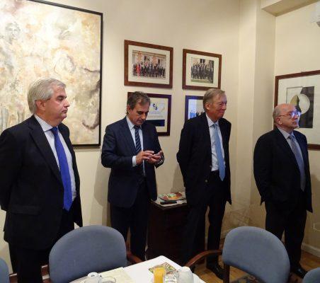 Gonzalo Babé, Luis Fernando Álvarez-Gascón, Carsten Moser y Joaquín Almunia