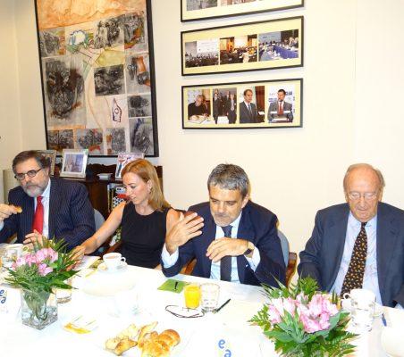 Miguel López-Quesada, Carme Chacón, Jaime Malet y Carlos Westendorp