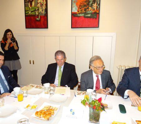 Rafael Hoyuela, José Luis López de Silanes, Ángel Durández y Guillermo Kirkpatrick