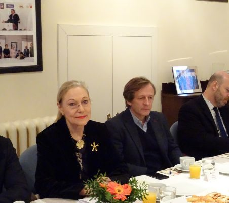 Miguel Jurado, Benita Ferrero-Waldner, Adolfo Tamames y Gonzalo de Castro