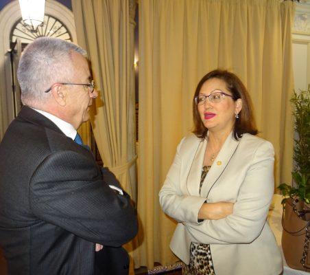 Salvador Arriola, Secretario para la Cooperación Iberoamericana de SEGIB, y Doris Osterlof, Embajadora de Costa Rica
