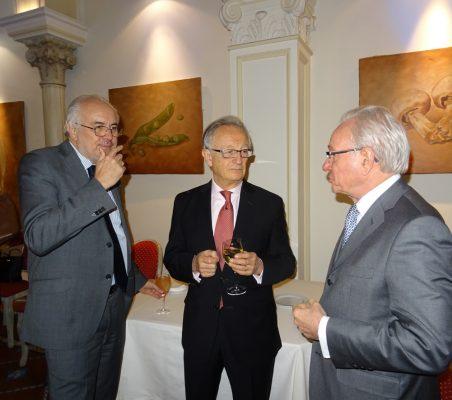 Ángel Durández, Vicepresidente de la Fundación Euroamérica, y Almerino Furlán, Presidente de Future Space