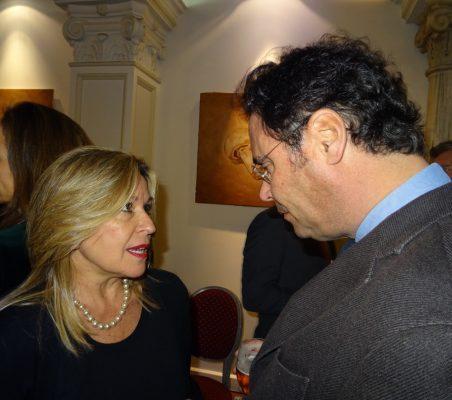 Trinidad Jiménez, Directora de Estrategia Global de Telefónica, y Jorge Toledo, Secretario de Estado para la UE