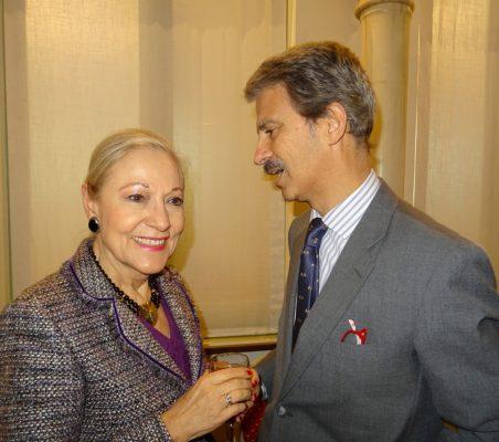 Benita Ferrero-Waldner, Presidenta de la Fundación Euroamérica, y José Ignacio Salafranca, Eurodiputado
