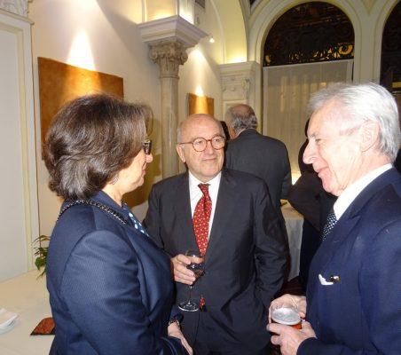 Rebeca Grynspan, Joaquín Almunia, y Lord Daniel Brennan